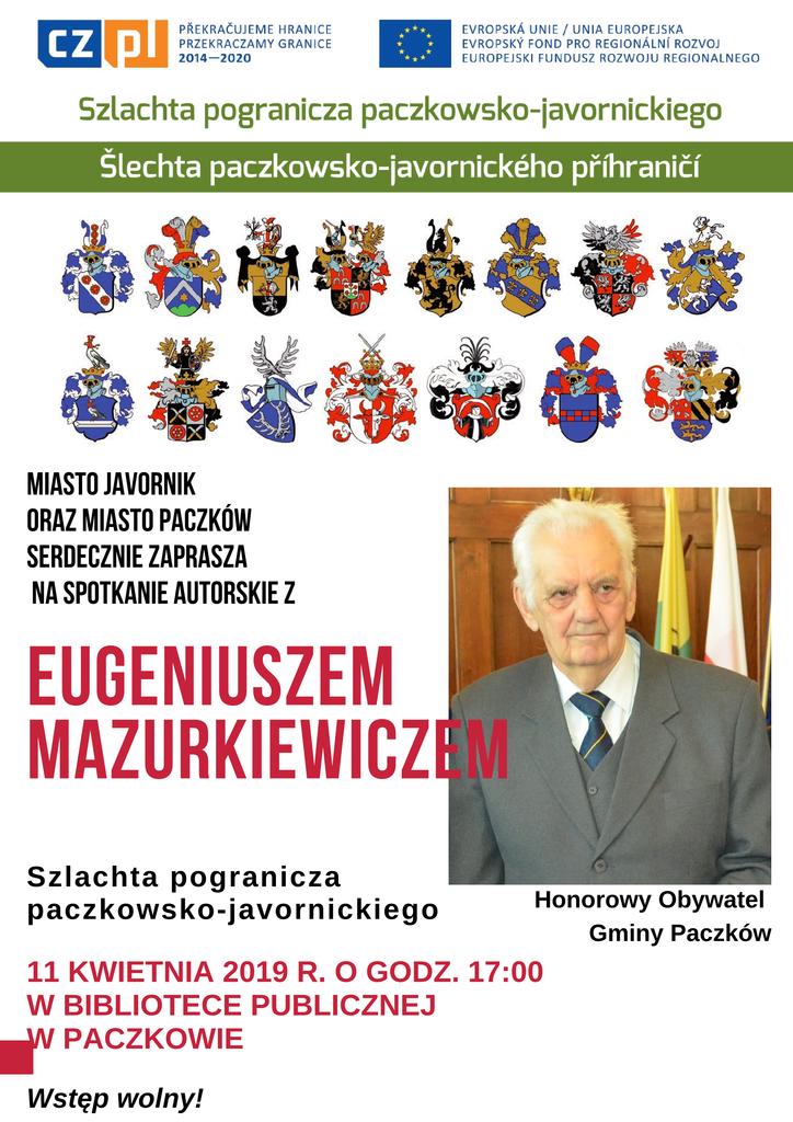 plakat spotkanie Mazurkiewicz biblioteka1.png