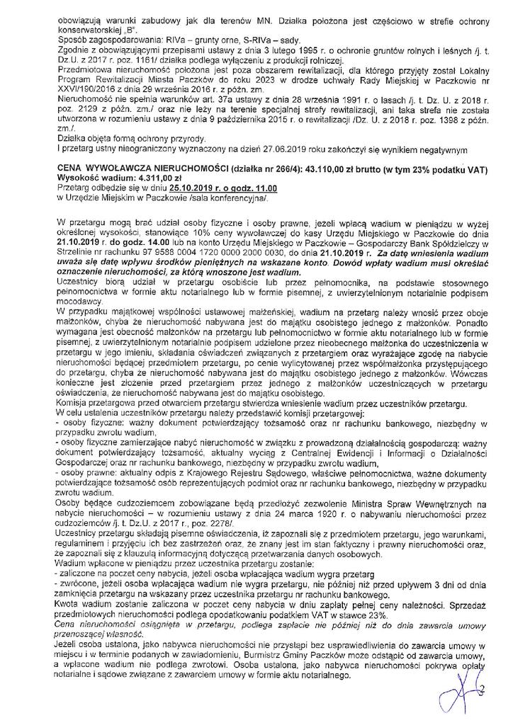 Ogłoszenie o II przetargu 266p3, 266p42.png