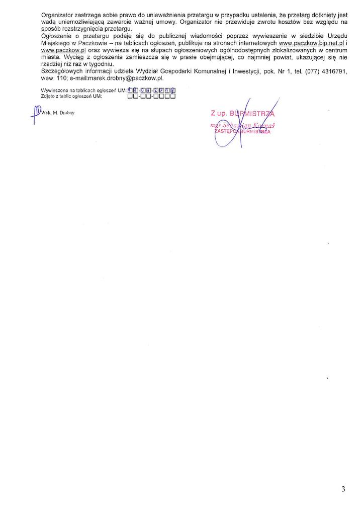 Ogłoszenie o II przetargu 266p3, 266p43.png