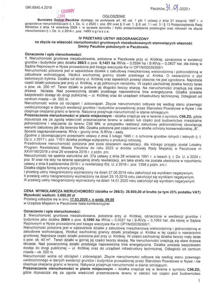 ogłoszenie o IV przetarg dz. 266p3 i 266p4-1.jpeg