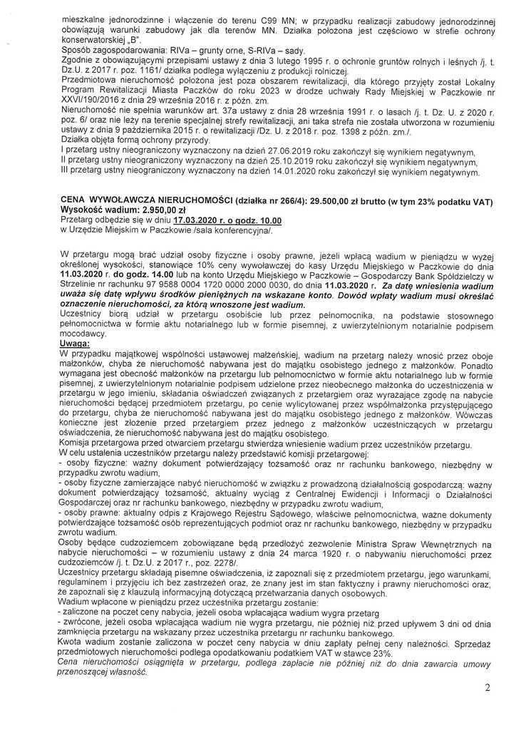 ogłoszenie o IV przetarg dz. 266p3 i 266p4-2.jpeg