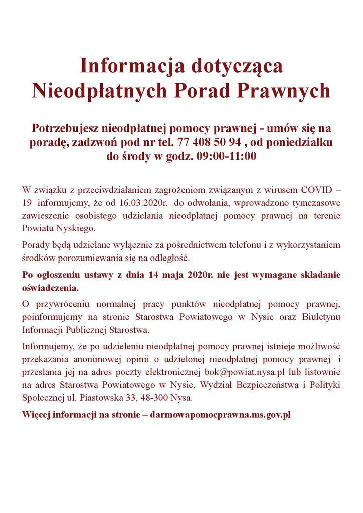 Informacja dotycząca Nieodpłatnych Porad Prawnych jpg.jpeg