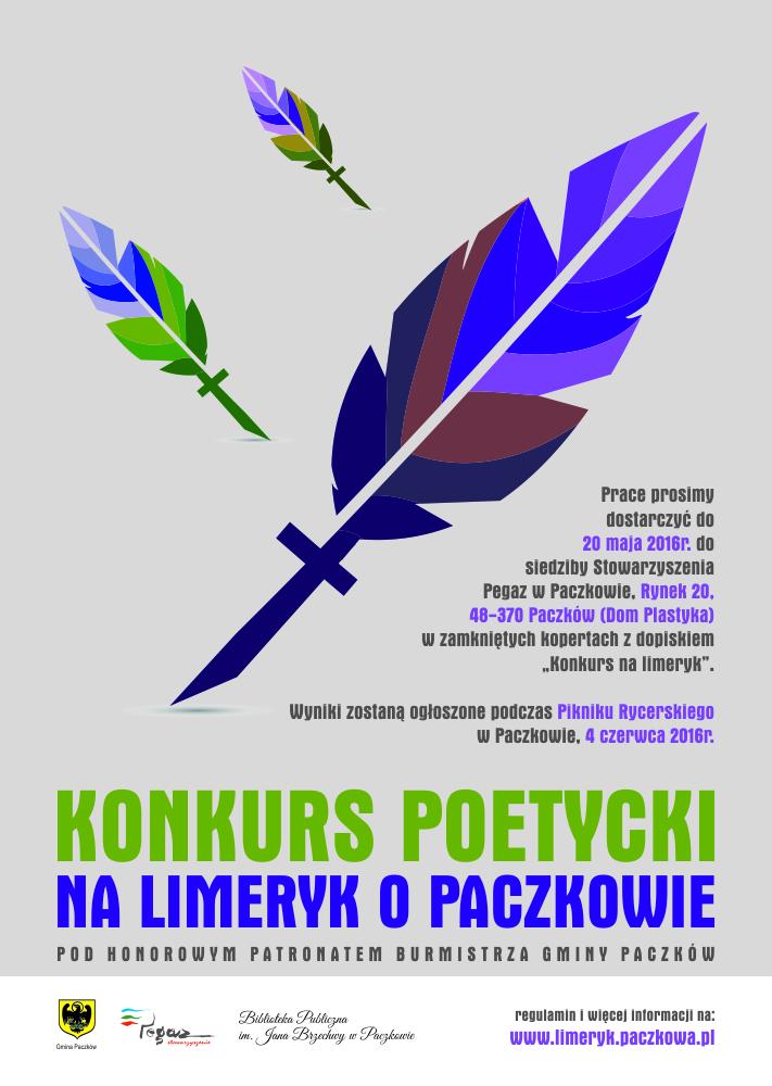 Konkurs Poetycki Na Limeryk O Paczkowie Urząd Miejski W