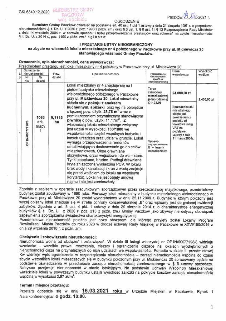 Ogłoszenie I przetargu - Mickiewicza 20p4-1.jpeg