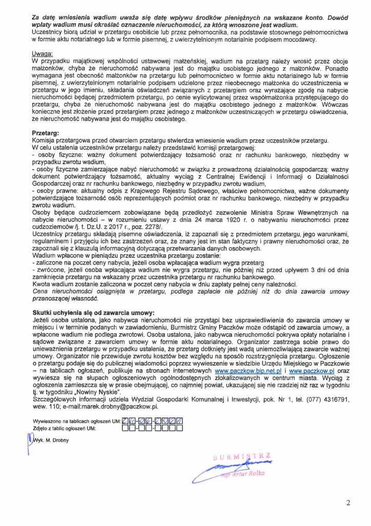 ogłoszenie o I przetargu Unikowice-2.jpeg